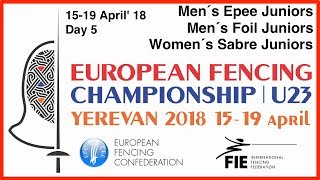 Day 05 2018 European fencing championships U23 - Red
