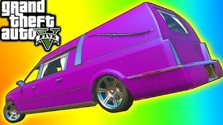 GTA 5 Tips: Rare Car Hearse Location (GTA V Online Chariot Romero Hearse)