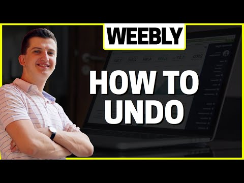 How To Undo In Weebly