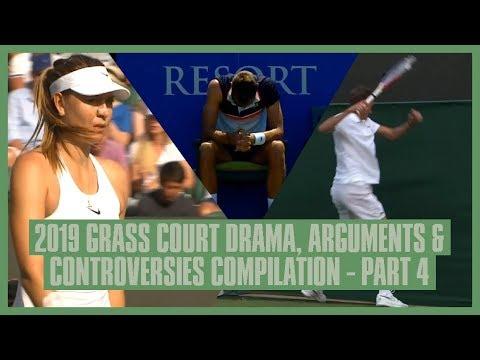 Tennis Grass Court Fights & Drama 2019   Part  4   Wimbledon, Eastbourne & Antalya   Medvedev's Rant