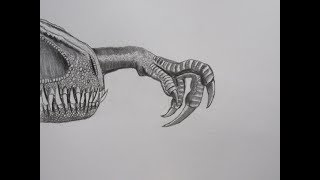 How to Draw Indoraptor Hand, Snout, and Foot || Tutorial - Jurassic World: Fallen Kingdom