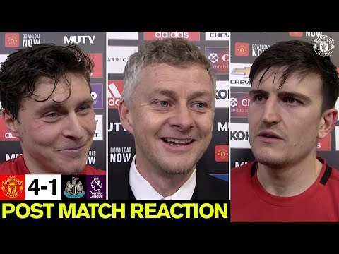 Maguire, Lindelof & Solskjaer Happy With Win Over Newcastle | Manchester United 4-1 Newcastle