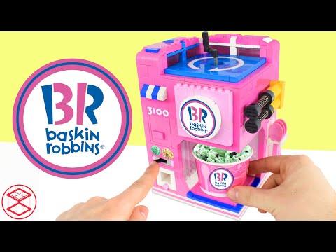 Baskin-Robbins Ice Cream Maker Custom LEGO Machine (Chocolate Chip & Almond Toppings)