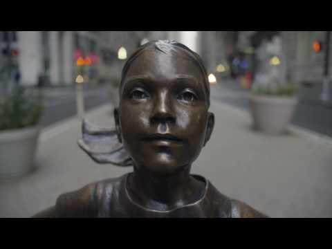 Ad Agency Puts 'Fearless Girl' Statue Opposite Wall Street's Charging Bull
