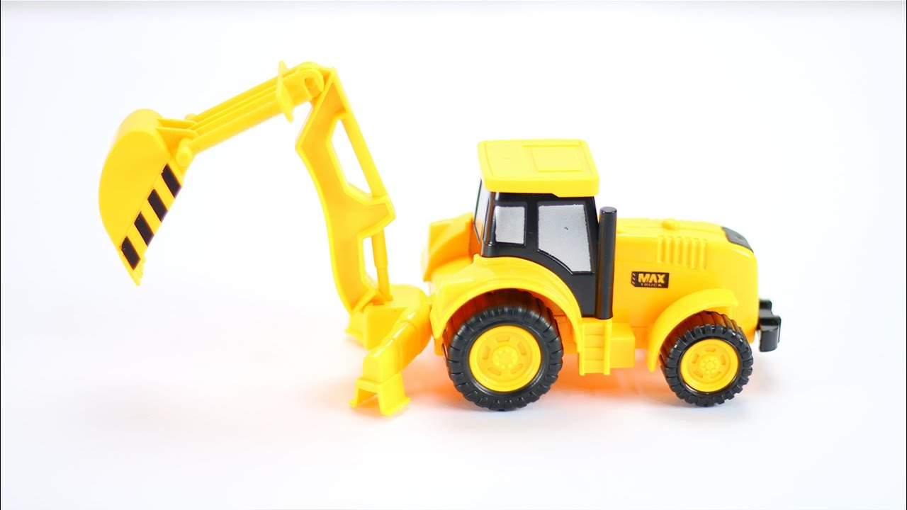 Backhoe Loader Truck Toy for Kids - learn construction ...