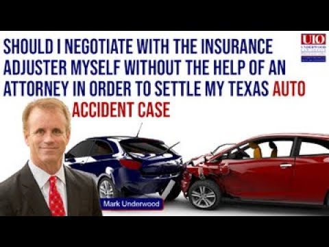 Should I negotiate in my Texas car accident case without an attorney?