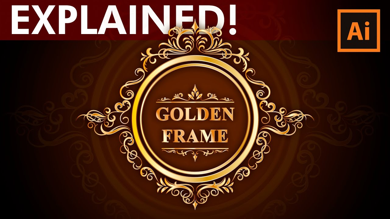 Adobe illustrator tutorial how to design a golden frame for Design a frame
