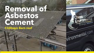 Removing Asbestos from Barn roof