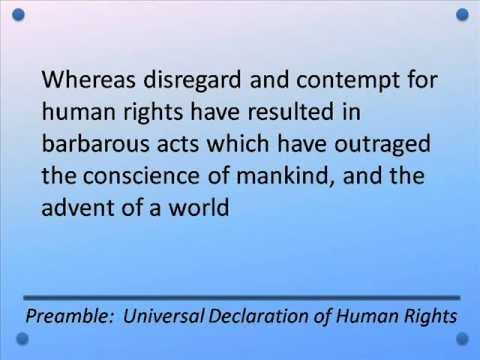 Preamble to Universal Declaration of Human Rights 1948 -- Hear and Read the Full Text