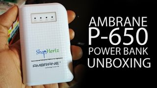 Ambrane Power Bank Unboxing & Overview | P-650