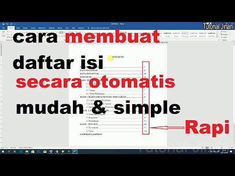 Cara membuat Daftar isi Skripsi, Tugas akhir, Makalah, Naskah. Meski Judul, Sub judul, sub, sub, sub, sub, sub, sub, .....dst ....