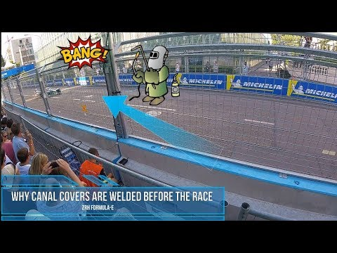 Why canal covers are welded before the race - Zurich E- Prix Switzerland