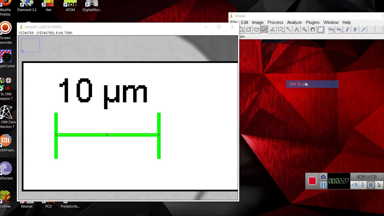 Imagej Tutorial : How to Set scale bar in micro-structure using imagej