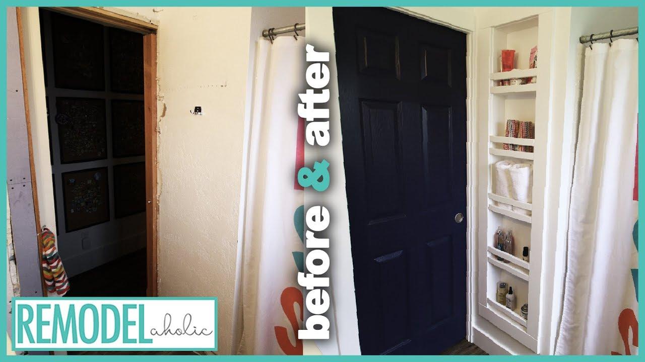 foto de How to Build Recessed Shelves Between Studs | Bathroom ...