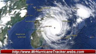 Tropical Cyclone Giovanna Making Landfall in Madagascar