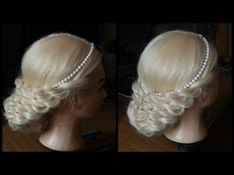 Романтична зачіска в грецькому стилі