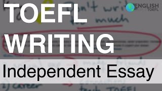 TOEFL Writing - Question 2 - Independent essay: How to do personal examples