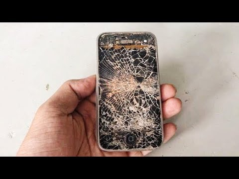 Restoration The Previously Destroyed 11 Year Old IPHONE Phone   Restore  Phone After Being Destroyed
