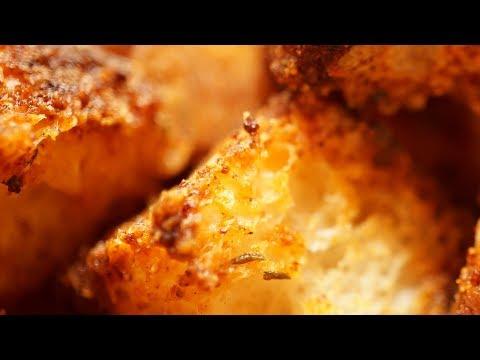 Homemade Croutons Recipe Crunchy.Caesar Salad. Use Gluten Free Bread