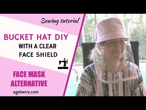 Bucket Hat DIY With A Clear Face Shield Plus A Free Pattern In Two Sizes (adult And Child)
