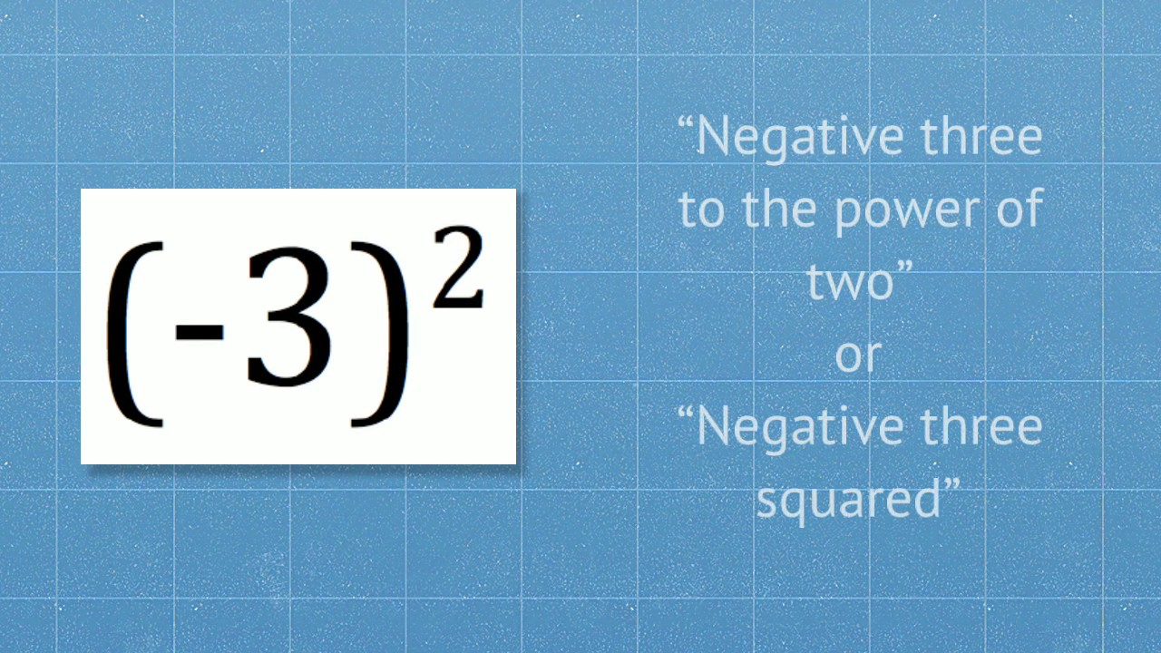 Parenthesis, Negative Numbers & Exponents (Frequent Mistakes) - YouTube