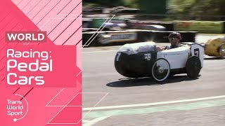 Human-Powered Pedal Car Racing Hitting Speeds of 70kph! | Trans World Sport