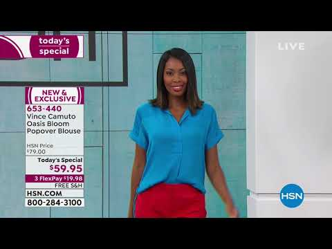 abd90d41166e73 Vince Camuto Oasis Bloom Popover Blouse - YouTube