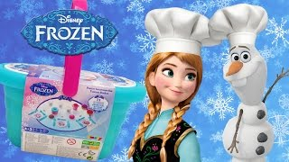 Frozen Picnic Basket Playset Play Doh Lollipops Cake Dessert Diy Play-doh Creations