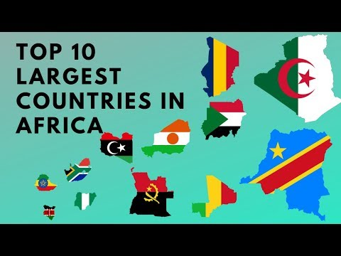 Top 10 Largest Countries in Africa by Area