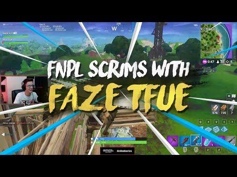 Fortnite scrims with FaZe Tfue