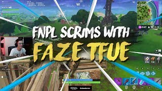 Fortnite scrims with Tfue