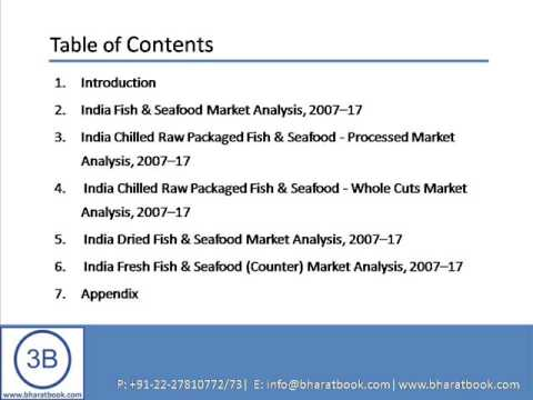 Bharat Book Presents : The Future Of The Fish & Seafood Market In India To 2017