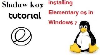 How to install elementary os in Windows 7-چۆنیهتی دابهزاندنی ئیلیمینتری لهسهر ویندۆز حهوت