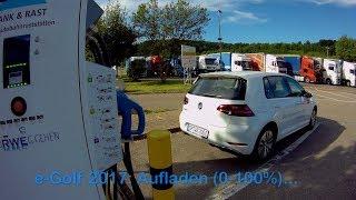 VW e-Golf 2017: Schnellladen an Typ2 & CCS (0-100%)