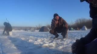 Рыбалка на Чайке после того как Томь полностью встала