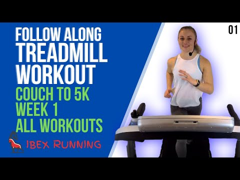 COUCH TO 5K WEEK 1 ALL WORKOUTS | Treadmill Follow Along! | IBX Running