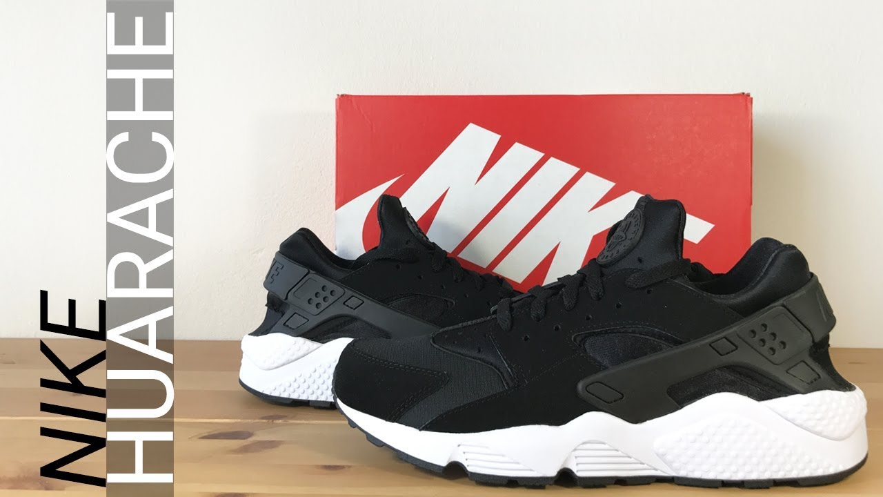 best sneakers 39f33 27f14 Nike Air Huarache Black   White - Unboxing, On Feet,   Overview
