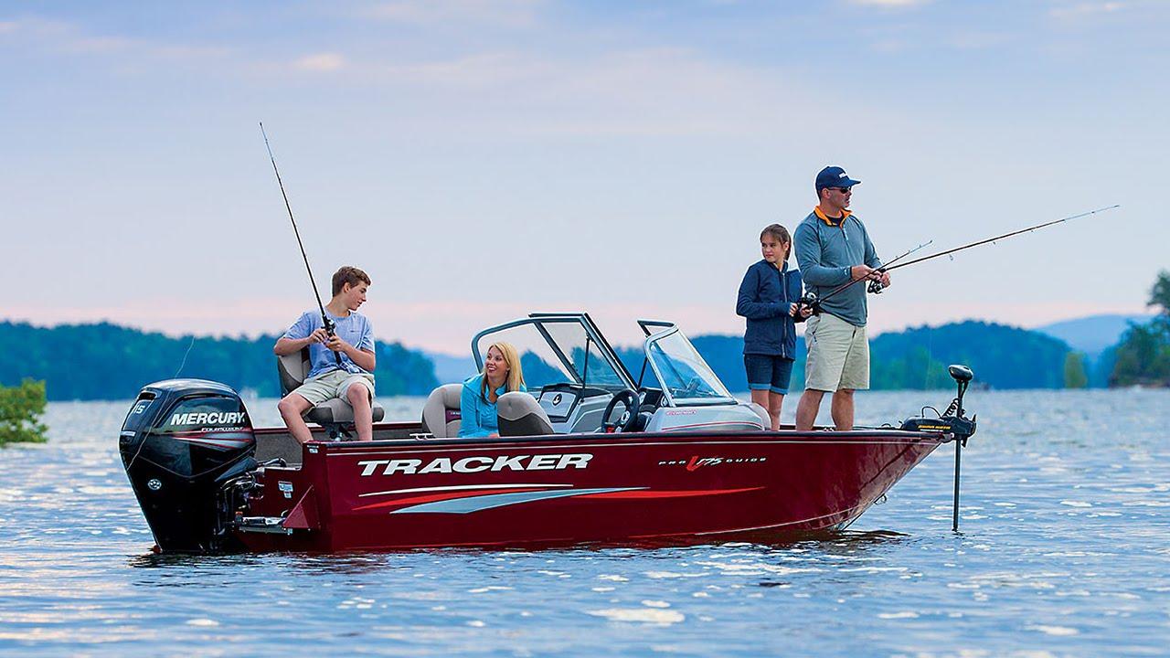 Tracker boats 2016 pro guide v 175 combo deep v aluminum for Tracker fishing boats