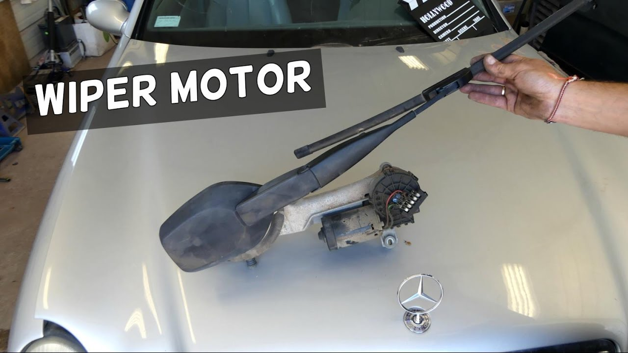 hight resolution of mercedes windshield wiper motor removal replacement w208