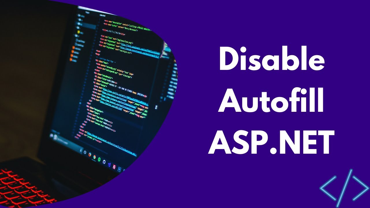 Disable auto fill in asp net