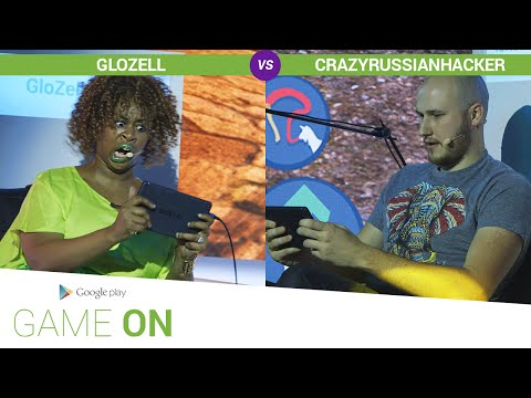 Google Play: Game On // GloZell vs. CrazyRussianHacker