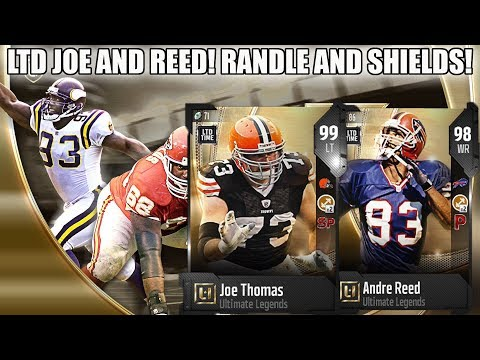 TWO LTD LEGENDS! LTD JOE THOMAS AND ANDRE REED! UL WILL SHIELDS AND JOHN RANDLE!