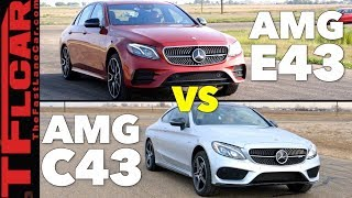 Which AMG is Quicker? Mercedes C43 AMG Coupe vs E43 AMG Sedan