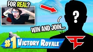 this FaZe member said I could JOIN if I won this game of Fortnite...