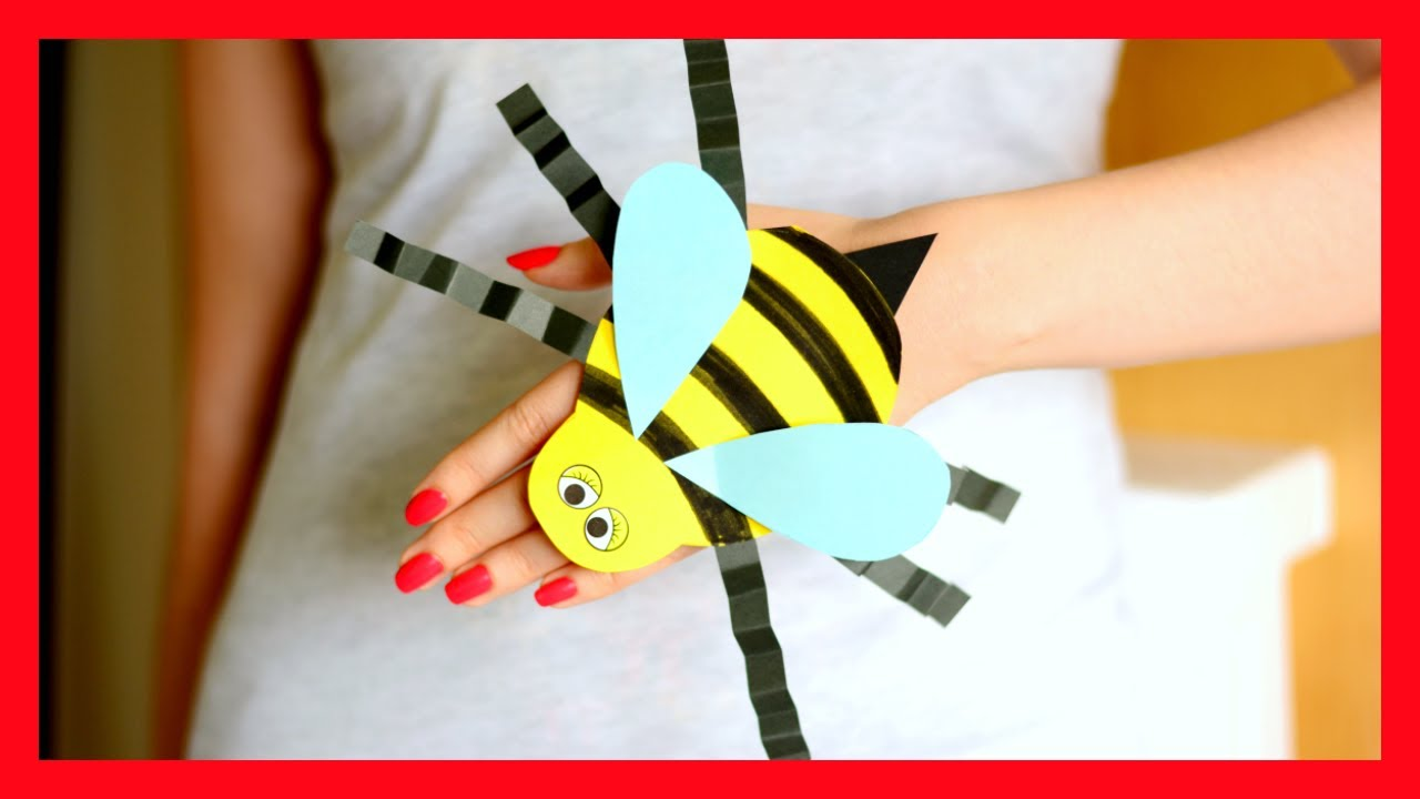 bee paper hand puppet template bee paper puppet template craft for 5934