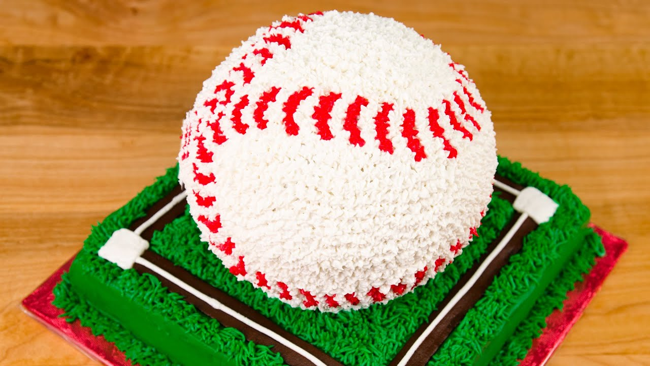 Cake Designs You Can Do At Home : 3D Baseball Cake from Cookies Cupcakes and Cardio - YouTube