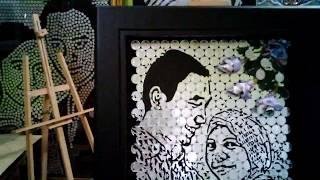 Ke Unikan Mahar Pernikahan Lukisan Koin dari MOZZLE CRAFT 02012017