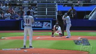 Major League Baseball 2K7 Xbox 360 Gameplay - Swinging at