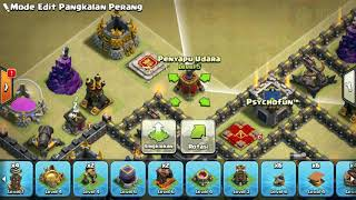 The strongest war base: Base war TH 9 terkuat (replay attact) Agustus 2017 - tipe 55