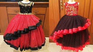 DIY Designer Traditional Frill Baby Dress Cutting And Stitching Full Tutorial
